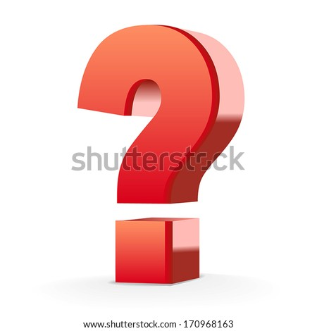red question mark isolated
