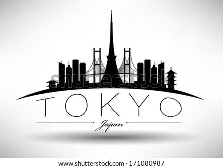 modern tokyo city skyline design