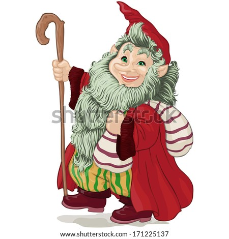 vector illustration  dwarf with