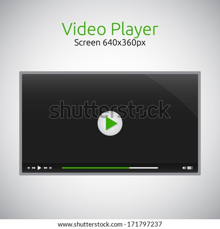 video player for website   dark