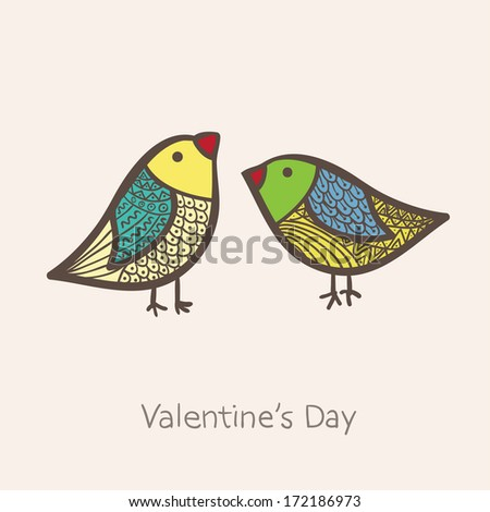 two birds in vector