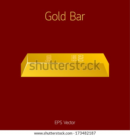 gold bar vector