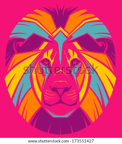 awesome portrait of lion