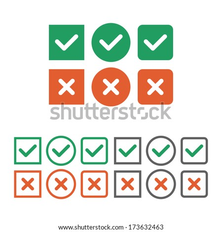check box icon set vector