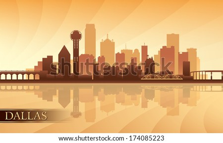 dallas city skyline silhouette