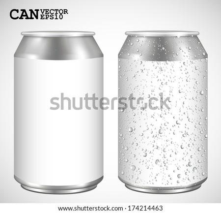 aluminum cans  realistic vector