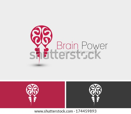 symbol of brain power  isolated