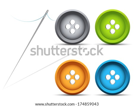 vector illustration of needle