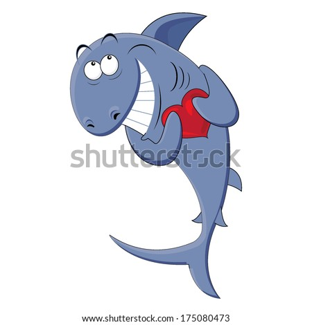 shark with a heart in his hands