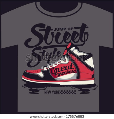 sneakers graphic design for t