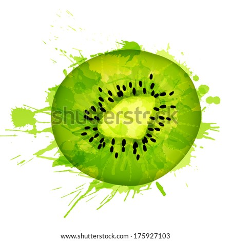 kiwi fruit slice made of