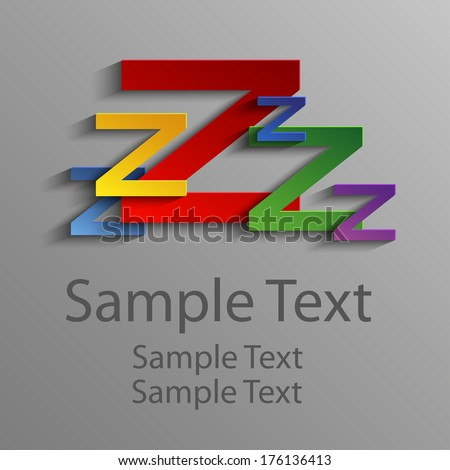 colored abstract letter z   zzz