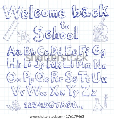 welcome back to school doodle