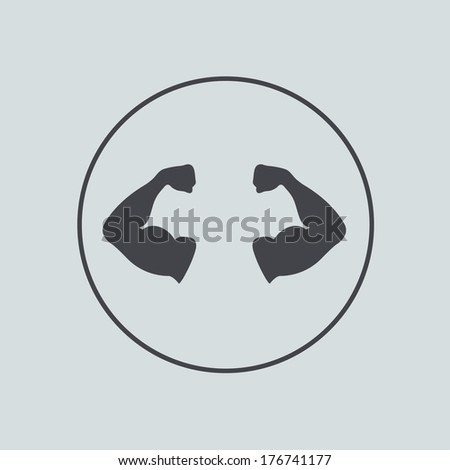 vector circle icon on gray