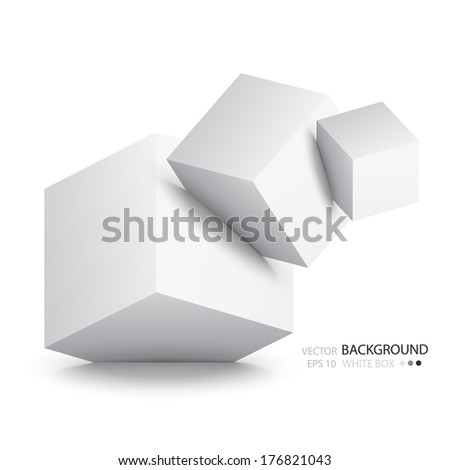 white cubes isolated on white