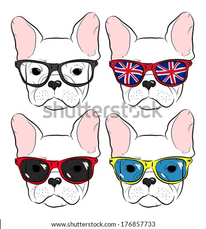 set of cute muzzle french