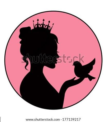 princess holding a little bird
