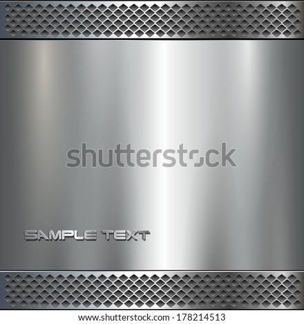 background   polished metal