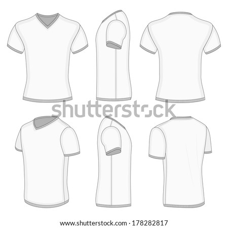 T shirt v neck design templates free vector download (13,395 Free ...
