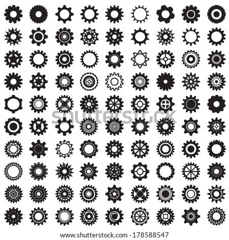 collection of gear wheels