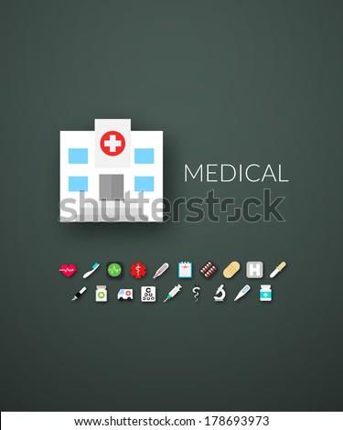 flat design modern of brand