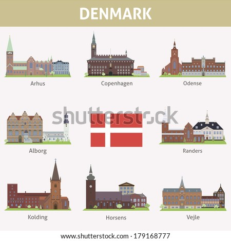denmark symbols of cities