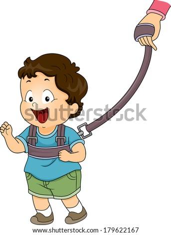 illustration of a baby boy