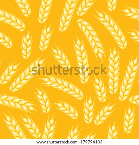 seamless pattern with ears of