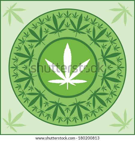 marijuana leaf medal vector