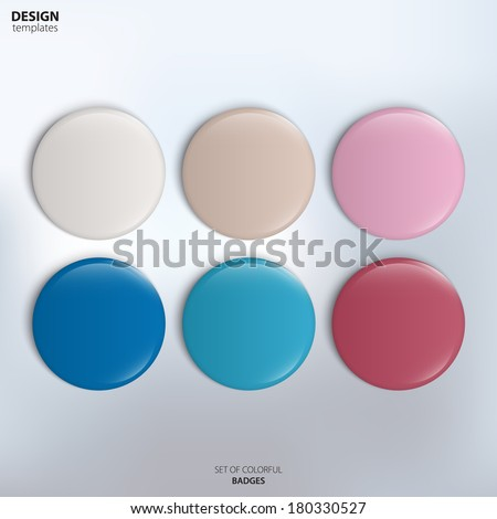 vector set of colorful glossy