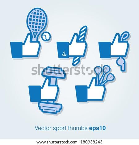 vector sport thumbs up
