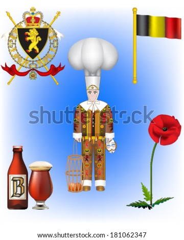 vector illustrations of belgium