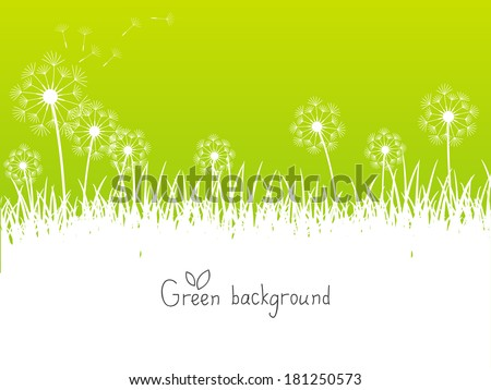 green spring background with