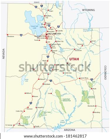 utah national park map