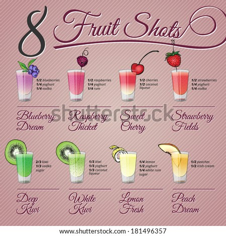 eight fruits alcohol shots
