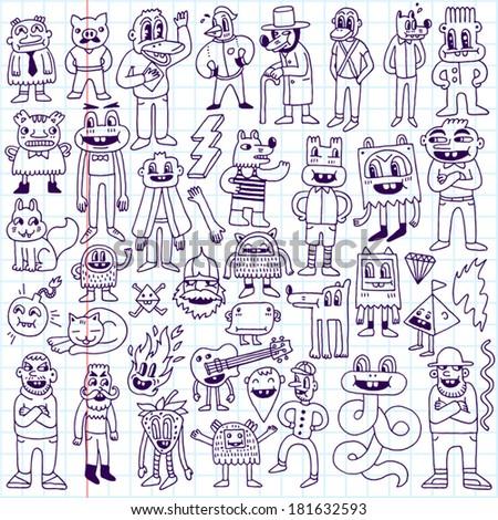 dudes doodle set school