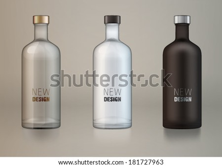 vector blank alcohol bottles