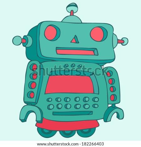 robots vector  robot toy icon