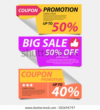 offers and promotions vector