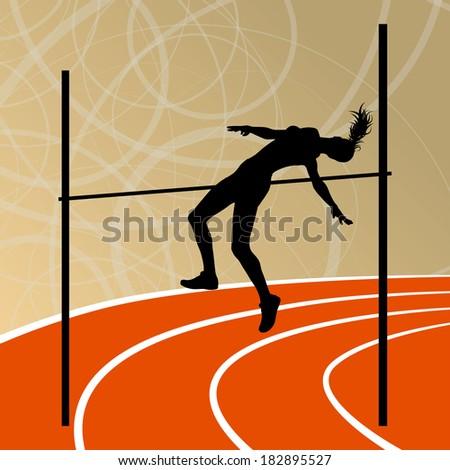 high jump athletics active