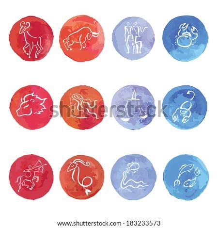 watercolor horoscope zodiac
