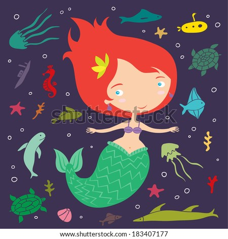 little mermaid illustration