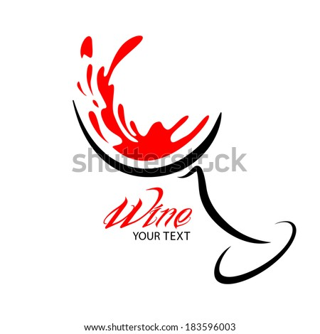 wine glass design silhouette in