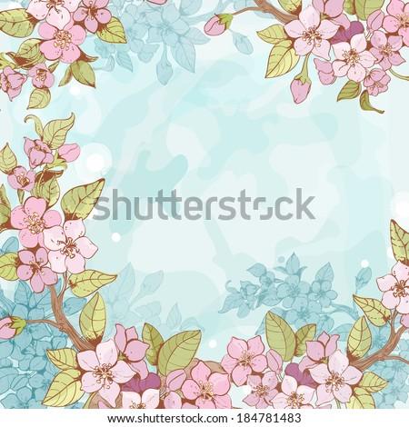 blooming sakura tree branch
