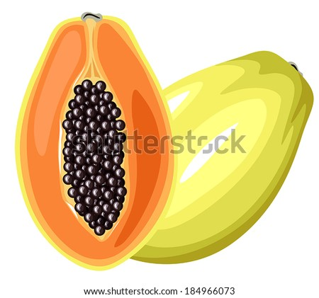 cartoon colorful image papaya