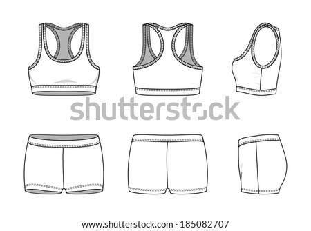 blank women's sports suit in