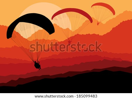 paragliding vector background