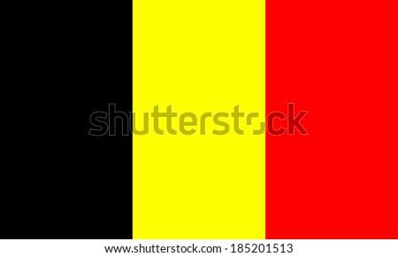 belgian vector flag isolated