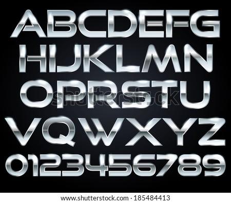 chrome letters
