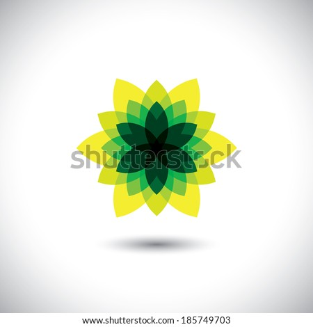 green flower icon made of